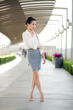 Top and skirt by T by Alexander Wang, bag by Celine, shoes by Christian Louboutin. (wendyslookbook.com, May 9, 2012)