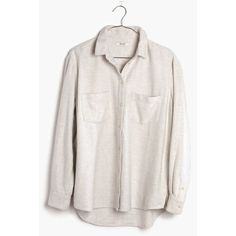 MADEWELL Flannel Oversized Ex-Boyfriend Shirt ($88) ❤ liked on Polyvore featuring tops, bright ivory, ivory shirt, madewell, boyfriend button down shirt, oversized boyfriend shirt and flannel button-down shirts