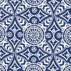 Serena and Lily Navy Medallion Fabric from Layla Grayce