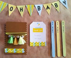 Project Nursery - Neon Yellow Baby Shower Banner Pennant