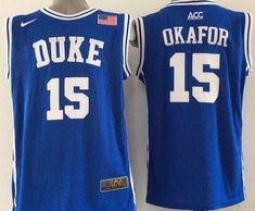 5a6ebbd84a3 Blue Devils Jahlil Okafor Blue Basketball New Stitched NCAA Jersey