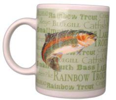 Field & Stream Coffee Cup Mug Outdoor Adventures Fish Angler Fisherman Bass