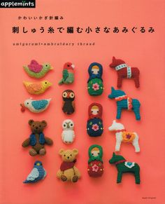 Amigurumi X Embroidery Thread - Japanese craft book