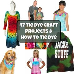 47 Tie Dye Craft Projects and How to Tie Dye