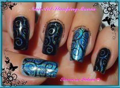"""Nail Art Stamping Mania: CICI & SISI And Color Club Halo Hues """"Over The Moon"""""""