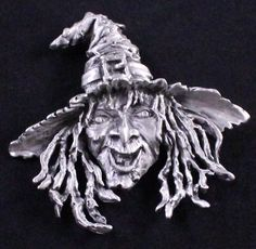 Vintage JJ Signed Large Witch Brooch by Paststore by paststore on Etsy