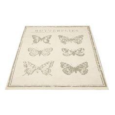 Teppich mit Schmetterlingen ♥ ab 7,99 ♥ Hier kaufen:  http://stylefru.it/s791242 #schmetterlinge #teppich #traumhaft