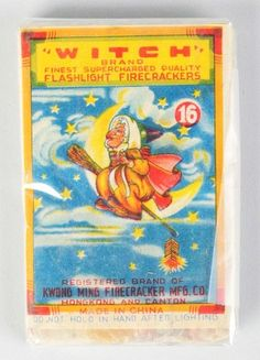 Witch 16-Pack Firecrackers label.