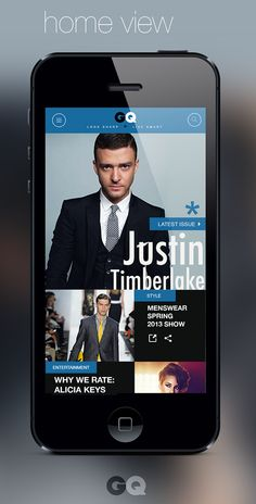 GQ magazine mobile web design by Calvin Pedzai, via Behance