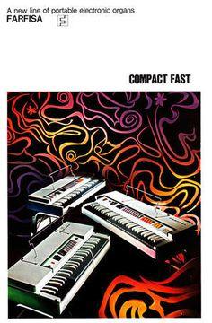 Farfisa COMPACT FAST 1970 Catalogue : retro designed music store organ69