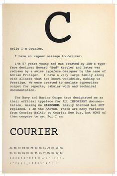 Howard Kettler : Fonte tipográfica Courier. Cartaz de Franchesca Rivera