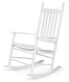 Salon – chaise a bascule blanc - Comforium