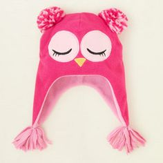 baby girl - accessories - owl microfleece hat | Children's Clothing | Kids Clothes | The Children's Place
