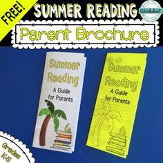 FREE! Summer reading brochure to send home with the final report card. Newly updated! Reading is a simple way to combat the summer learning slide. Color and black and white versions are included. More Than a Worksheet