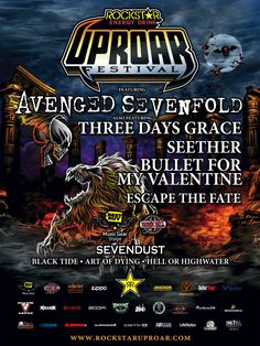 The 2011 Rockstar Energy Drink Uproar Festival lineup kicked butt.  2012 looks to be a blast as well.