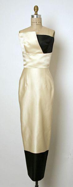 Yeohlee Teng (American, born Malaysia, 1951)...stunning colorblock satin gown!