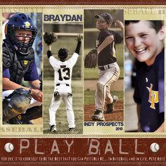 Play Ball - Scrapbook.com baseball scrapbook page layout