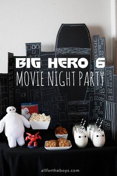 Big Hero 6 Movie Night Party #BigHero6Release #ad