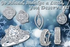 Diamonds are always in fashion and are the perfect complement to everything you wear. Go Ahead, Indulge a Little, You Deserve It.