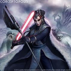 Star Wars card art (Star Wars Galaxies) A Dark Jedi (or Sith) with Wampa support? Star Wars Mädchen, Star Wars Droids, Star Wars Girls, Star Wars Characters Pictures, Star Wars Images, Sith Costume, Star Wars Novels, Marvel, Star Wars Collection