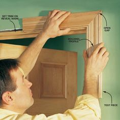 Detailed instructions on how to install baseboard and case a door and window