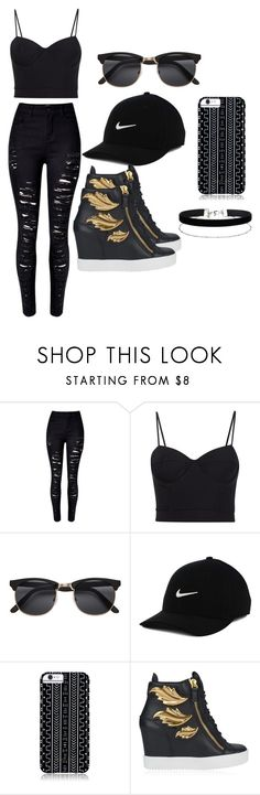 """""""le slyle"""" by amniaali ❤ liked on Polyvore featuring WithChic, Alexander Wang, NIKE, Savannah Hayes, Giuseppe Zanotti and Miss Selfridge"""
