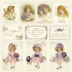 """**PRE-ORDER** Pion Design - Images From The Past Collection - 12""""x12"""" Single Sided cardstock - My Precious Daughter"""