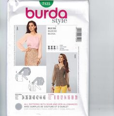 Misses Sewing Pattern Burda 7125 Misses by historicallypatterns