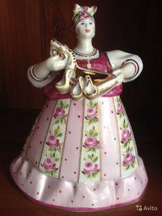 Фарфоровая статуэтка Русский квас h 180 мм Дулёво, авторская роспись 10200 руб.