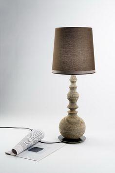 cardboard lamp - lampada da tavolo Genia in cartone - design sedicilab