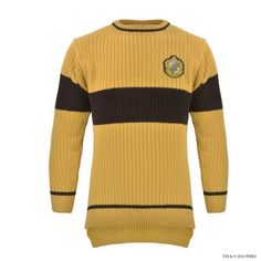 Shop online for Hufflepuff™ Quidditch™ Knitted Adult Jumper from Warner Bros Studio Tour London Clothing department or browse our range. Pull Harry Potter, Mode Harry Potter, Harry Potter Merchandise, Warner Bros Studios, Hufflepuff Pride, Ted, Brown Sweater, Cool Outfits, My Style