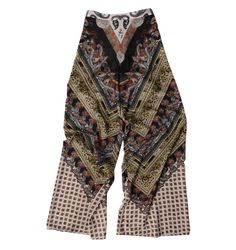 ALICE & OLIVIA ATHENA CHEVRON PAISLEY SUPER-FLARED PANT, $330, SAKS FIFTH AVENUE.