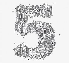 Five #numbers #five #typography typography my-likes