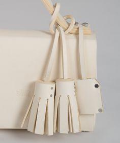 Ivory MECANO Nº1 by LESS BORE  #handmade #eco #Leather #cowhide #luxury #LessBore #handbag #slowfashion
