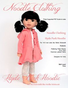 Wellie Wishers Clothing PDF Pattern.  Hyde Park by NoodleClothing
