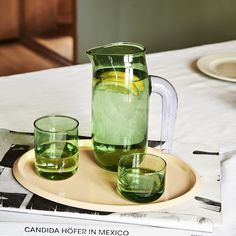 Tint is a collection of glasses made of softly tinted borosilicate glass. They come in sets of two. - H Diameter - Borosilicate glass - Hand wash only Hay Tray, Outdoor Furniture Design, Glass Jug, Modern Shop, Lighting Sale, Danish Design, Furniture Collection, Tumblers, Glasses