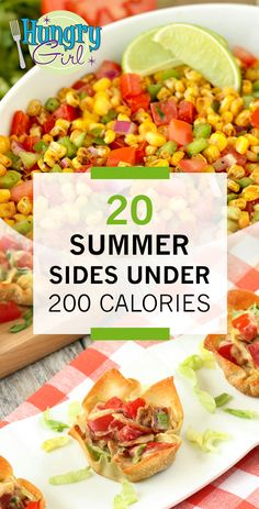 Light & Healthy Summer Side Salad Recipes for Cookouts, Parties & BBQs | Hungry Girl Side Salad Recipes, Ww Recipes, Summer Recipes, Cooking Recipes, Healthy Sides, Healthy Snacks, Healthy Eating, Healthy Recipes, Hungry Girl Recipes