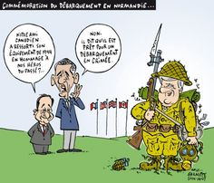 Les caricatures de Garnotte: Commémoration du débarquement en Normandie...