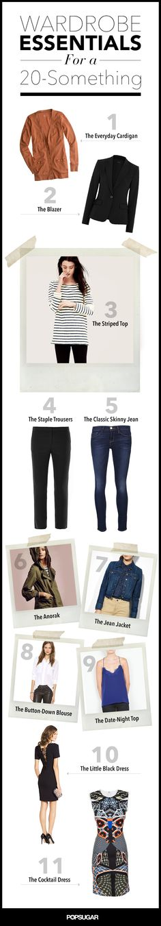The 11 Things Every 20-Something Should Have in Her Wardrobe @Melodie Olps Olps Hrabak I need to get a bunch of these!