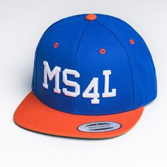MS4L Snapback Cap im Blue/Orange Style
