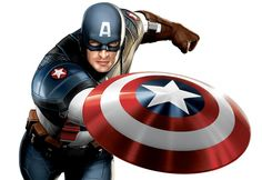 One of the very first high resolution images depicting Chris Evans as the new Captain America.