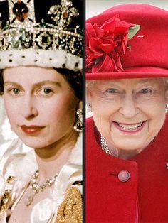 Queen Elizabeth...then and now