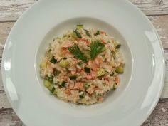Koken met Rianne: Romige risotto met gerookte zalm en courgette