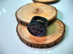 Women wood ring Dark wood ring Wooden ring Gift от HippoAndRaccoon