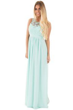 Lime Lush Boutique - Mint Woven Maxi Dress with Crochet Bodice, $49.99 (https://www.limelush.com/mint-woven-maxi-dress-with-crochet-bodice/)