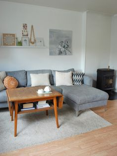 love the shelf and retro coffee table