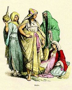 Costumes of Arab women, fourth to sixth century (pre-islamic) --Reference for King Rehema