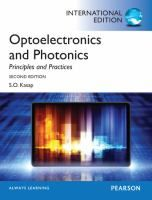 Optoelectronics and Photonics For one-semester, undergraduate-level courses in the departments of electrical engineering, engineering physics, and material. Home Electrical Wiring, Electrical Engineering, Materials Science, Free Pdf Books, Always Learning, Physics, This Book, Social Media, Technology