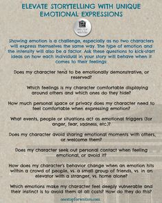 Need Help Writing Your Character's Emotions? This guide will help! One Stop for Writers Emotional Expressions