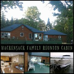 Hackensack Family Reunion Cabin is ready and waiting for you on the shores of Pleasant Lake in Minnesota. Pack a bag and head north with family or friends!  #Reunion #TravelMN #ItsCabinTime #BookDirect